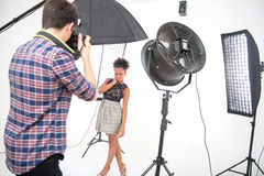 Photo session of the great model Stock Photo