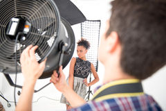 Photo session of the great model Royalty Free Stock Photography