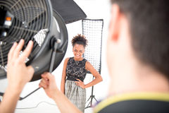 Photo session of the great model Royalty Free Stock Photo