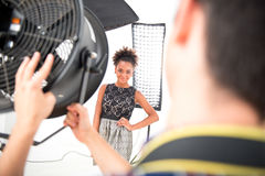 Photo session of the great model Stock Images