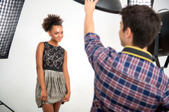 Photo session of the great model Stock Image