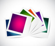 Photo set with different colors. illustration Stock Photos