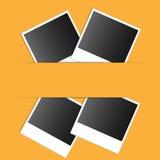 Photo. Set on an orange background photo Stock Photo