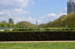 Hyde Park London. Photo of the Shard and the London Eye from Hyde Park, London, UK Stock Photography