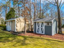 Photo of the shed. Stock photo of the shed Royalty Free Stock Photos