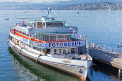 Photo Ship Linth On The Lake Zurich Stock Image