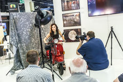 Photo shoot at the Photokina 2014 Stock Photos