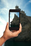 Photo shooting on smartphone Royalty Free Stock Photo