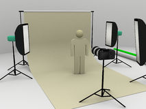 Photo shooting in studio Stock Photos