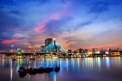 Da Nang city at sunset. This photo show you how beautiful of the ciy royalty free stock photo