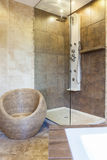 Photo of shower tub in modern bathroom Stock Photo