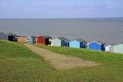 Path down to beach and huts Stock Image
