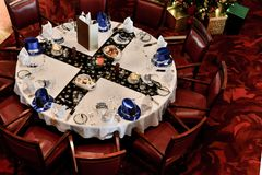 Photo Showing Round Dining Table Stock Image