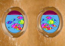 shipwreck portholes Stock Photography