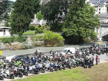 Bikers at Lourdes Royalty Free Stock Photos