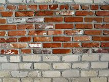 Brick, wall, red and white stock image
