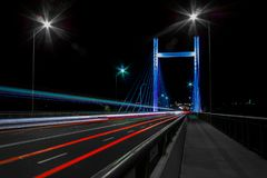 Beautiful colorfull bridge in the evening Royalty Free Stock Image