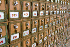 Multiple Post Office Boxes Royalty Free Stock Photography