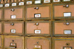 Multiple Post Office Boxes Royalty Free Stock Image