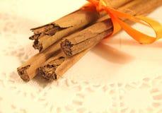 Cinnamon Spice Sticks Stock Images