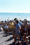 1976. Australia. N.T. Darwin. Beer can regatta. The Photo shows some participants taking part in a Royalty Free Stock Image