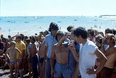 1976. Australia. N.T. Darwin. Beer can regatta. The Photo shows some participants taking part in a Stock Photography