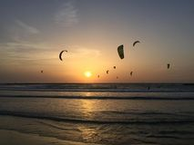 Evening Surfing Royalty Free Stock Photo