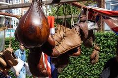 Vintage sports objects in Portobello market royalty free stock image