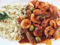 Shrimp Veracruz Style stock photo