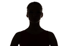 Photo of silhouette teenage girl Royalty Free Stock Image