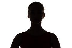 Photo of silhouette teenage girl Royalty Free Stock Image