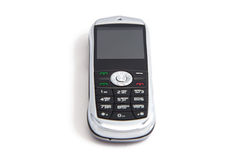 Photo of silver mobile telephone Royalty Free Stock Images