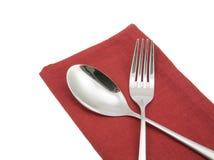 Photo silverware fork napkin   Royalty Free Stock Images