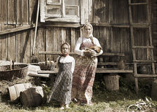Photo of sisters in farm Royalty Free Stock Photos