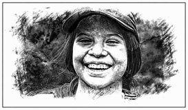 Photo Sketch Of Teenage Girl Royalty Free Stock Photo