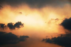 Photo of the sky with clouds royalty free stock photography