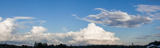 Photo of the sky with clouds in the summer day Royalty Free Stock Photography