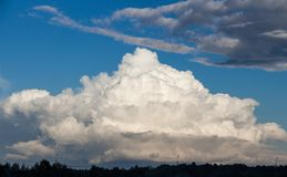 Photo of the sky with clouds in the day Royalty Free Stock Photography