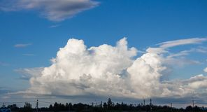 Photo of the sky with clouds in the sunny day Stock Image