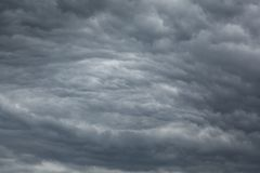 Stratocumulus clouds. A photo of the sky covered with Stratocumulus Undulatus clouds stock image
