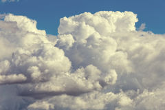 Photo of the sky with cumulus clouds Stock Photography