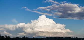 Photo of the sky with white clouds in the day Royalty Free Stock Photography