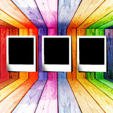 Photo slide in a colorful wooden room Stock Photos