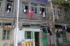 A photo of slum houses Stock Photos