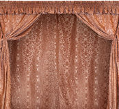 The photo of smart curtains from a gold velvet Royalty Free Stock Photos