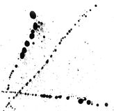 Photo of the smeared black blots. Photo of the smeared black blots on a white background Stock Photo