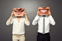 Photo of smiley people. Concept photo of smiley people Royalty Free Stock Photography