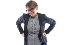 Photo smiling woman with hands on hips Stock Photography