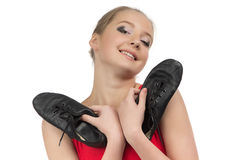 Photo of smiling young ballerina Stock Photo