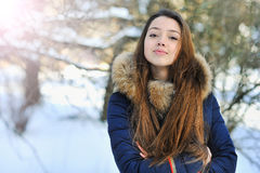 Photo of smiling young happy girl looking at camera Royalty Free Stock Images